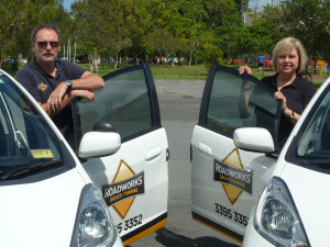 Driving Lessons Brisbane.Two of our driving instructors.